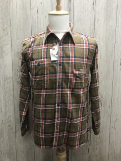 フェローズ ライトウェイト フランネル チェック ワークシャツ BRN 20W-750WS-C PHERROW'S