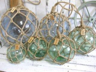 ガラス浮き玉NO.5 (ネット外径160φ)  ガラス玉 浮玉