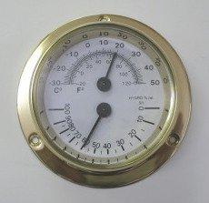 マリン温湿度計S 壁掛け 温度計 湿度計 バロメーター ブラス