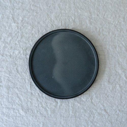 3RD CERAMICS / 黒泥皿 6寸