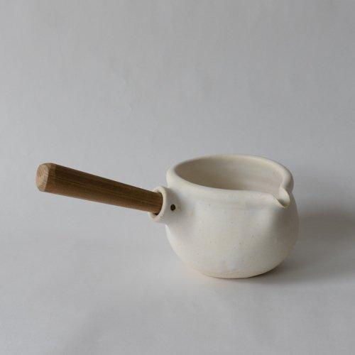 馬場勝文 / 耐熱ミルクパン (白) 左利き用
