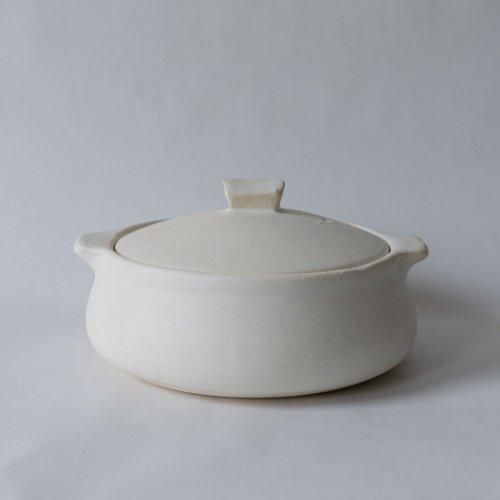 馬場勝文 / 耐熱土鍋 (白) 小