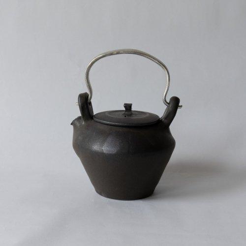 馬場勝文 / 黒釉すず手 土瓶