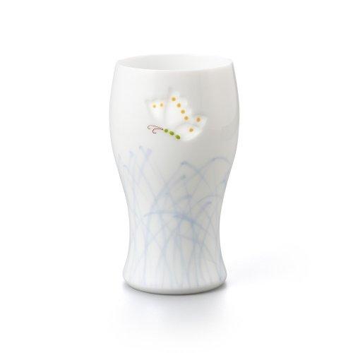 透かし彫 蝶 ビアグラス