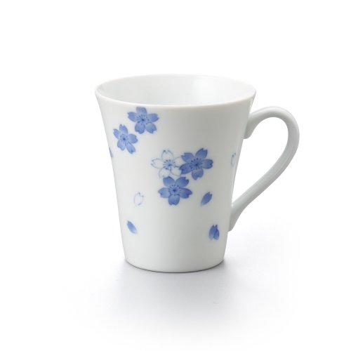 桜 長マグカップ ブルー