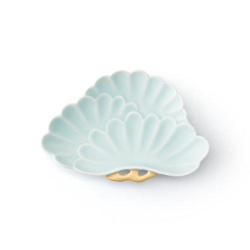 モイスト 金彩 三蓋松皿