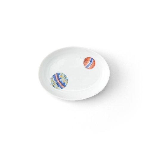 手まり 楕円小皿