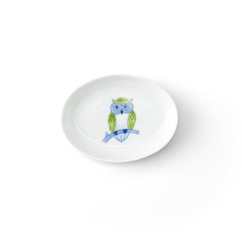 ふくろう 楕円小皿
