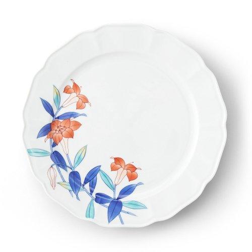 五草花 百合 木瓜9寸皿