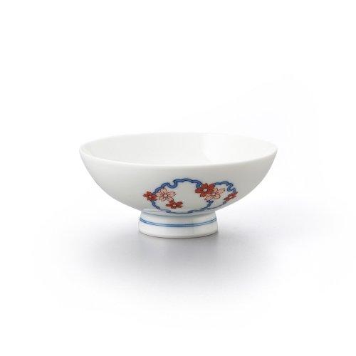 雪輪桜文 平茶碗(小)
