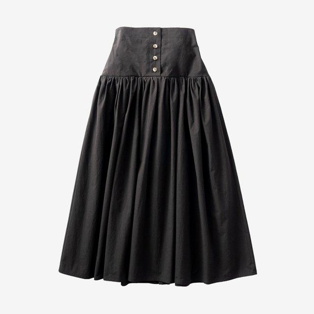 ボリュームフレアスカート【black】