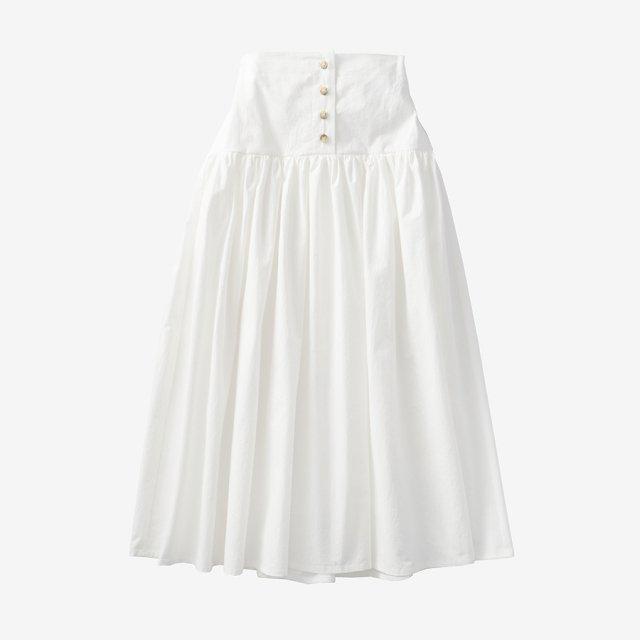 ボリュームフレアスカート【white】