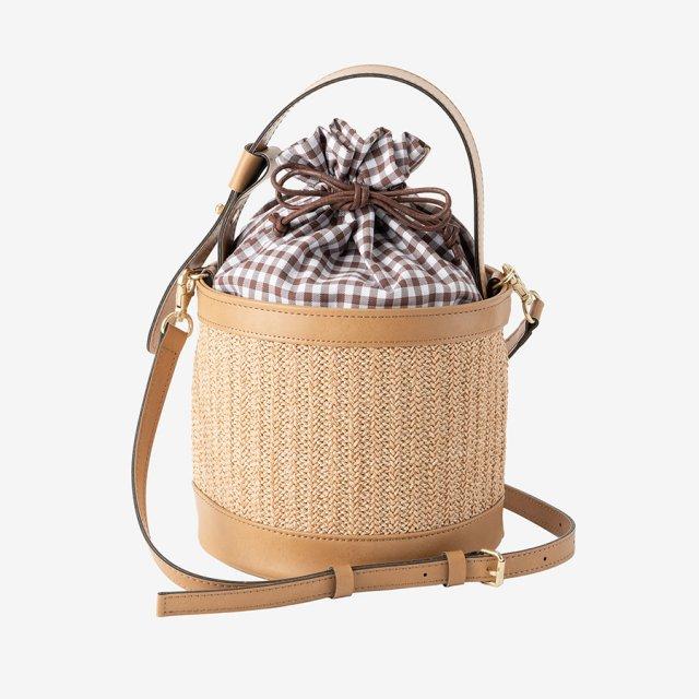 round basket bag【beige】