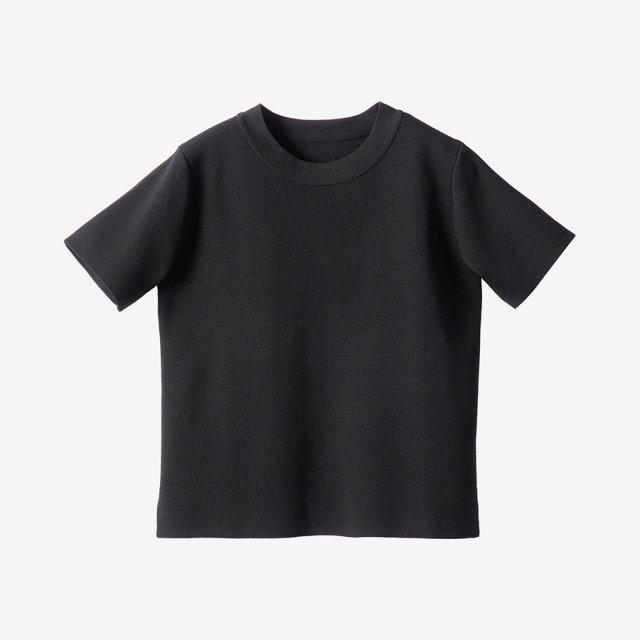 ニットTシャツ【black】