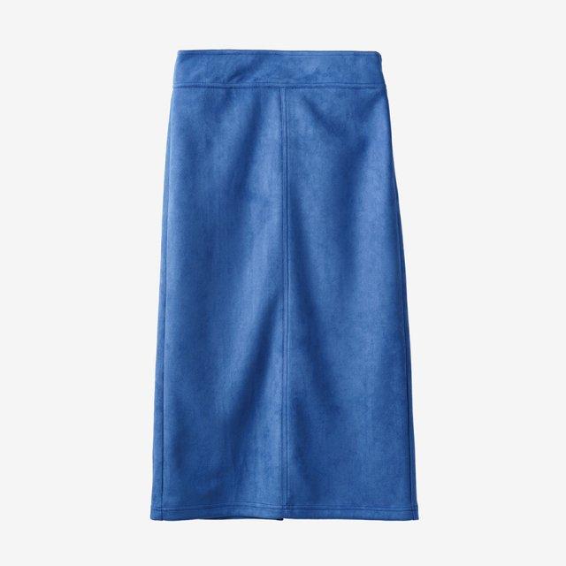 スウェードスカート【blue】