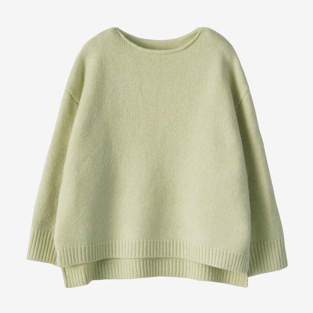 サイドスリットプルオーバーニット【mint green】