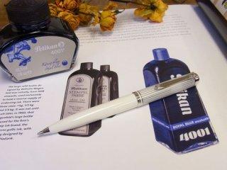 限定品 スーベレーンK605 ホワイトストライプボールペン