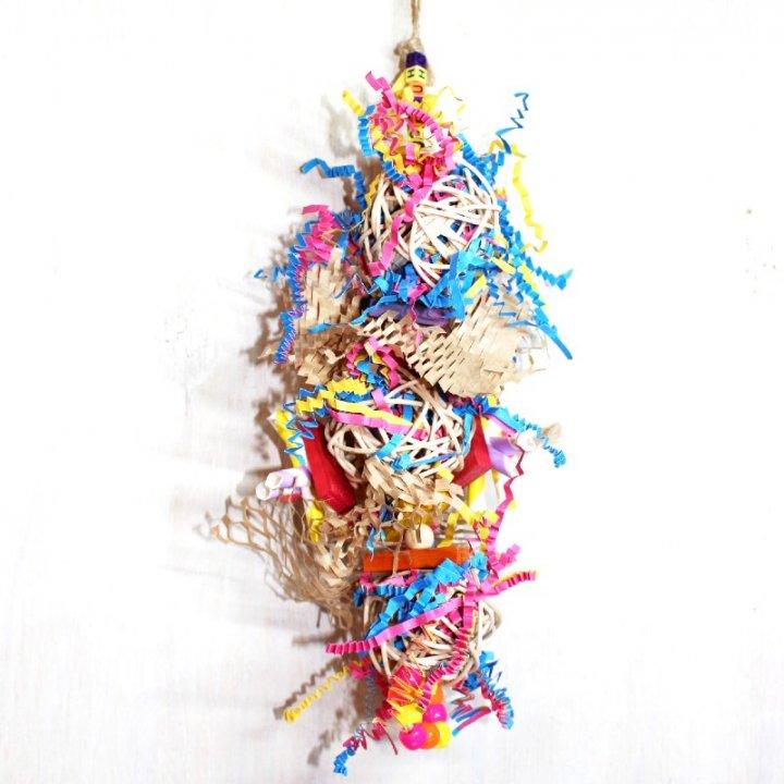ペーパーマンチボンバー(Lサイズ)|  鳥 ,インコのおもちゃ_ フォージングトイ