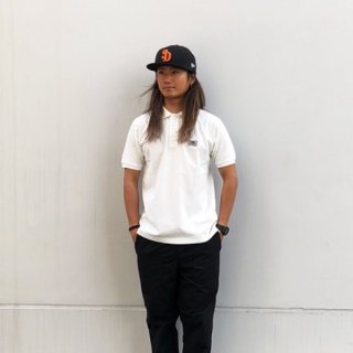 STANDARD CALIFORNIA(スタンダードカリフォルニア)SD Giza Cotton Shield Logo Polo Shirt