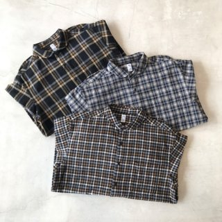 KATO'(カトー)シャギーチェックラウンドカラーシャツ