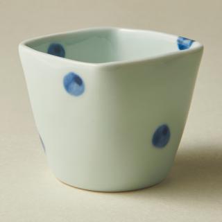 角フリーカップ/水玉<br>square cup