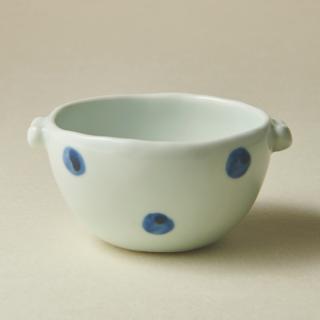 耳付スープカップ/水玉<br>soup cup