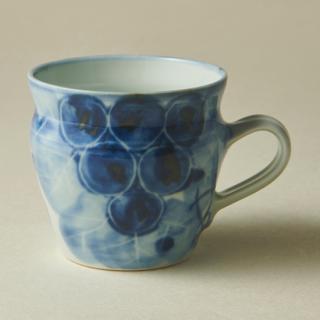 ぶどう絵マグカップ<br>grape mug