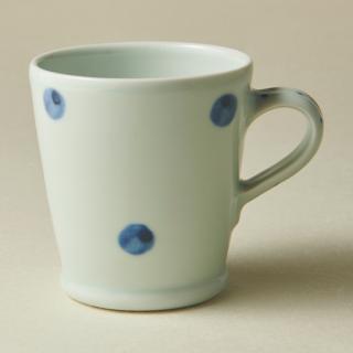 スリムマグカップ/水玉<br>slim mug