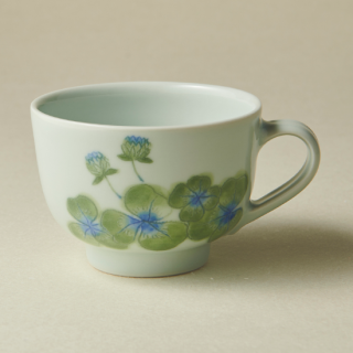 コーヒーカップ&ソーサー/クローバー<br>coffee cup & saucer