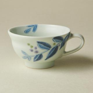 ティーカップ&ソーサー/ブルーベリー<br>tea cup & saucer