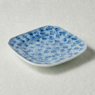 5寸角皿/唐草<br>150mm square plate