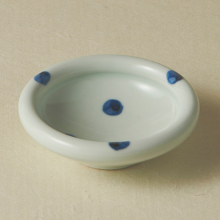 3寸玉縁鉢/水玉<br>90mm tamabuchi bowl