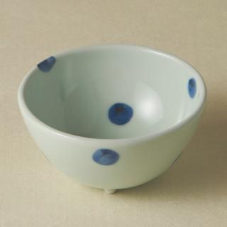 足付コロコロ鉢(小)/水玉<br>bowl with legs
