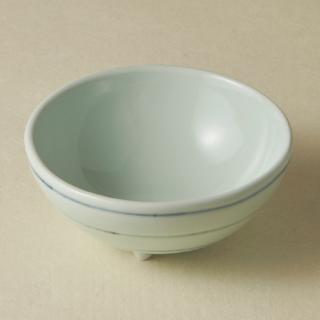 足付コロコロ鉢(大)/ボーダー<br>bowl with legs