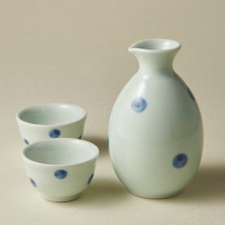 1合徳利&お猪口/水玉<br>small sake bottle & cup<img class='new_mark_img2' src='https://img.shop-pro.jp/img/new/icons5.gif' style='border:none;display:inline;margin:0px;padding:0px;width:auto;' />