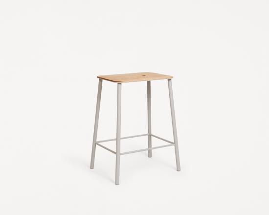 Adam Stool | Oak / Grey | H50【予約販売】