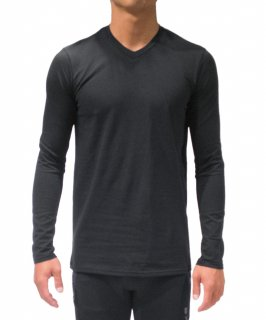 Men's Cotton Blend Comfy L/S Tee(V neck)