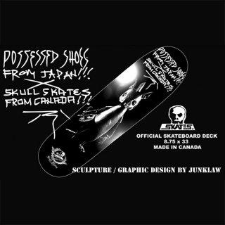 "【POSSESSED SHOE.CO】×SKULL SKATES OFFICIAL SKATEBOARD DECK ""SCULPTURE"""