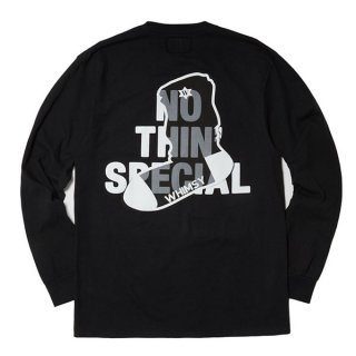 【Whimsy/ウィムジー】×NOTHIN'SPECIAL NSW LOGO LONG SLEEVE(BLACK)