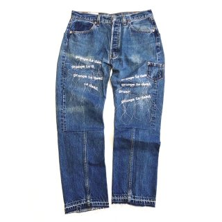 """<img class='new_mark_img1' src='https://img.shop-pro.jp/img/new/icons14.gif' style='border:none;display:inline;margin:0px;padding:0px;width:auto;' />【BOWWOW】""""TWISTED"""" REMAKE DENIM PANTS-01"""