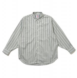 <img class='new_mark_img1' src='https://img.shop-pro.jp/img/new/icons14.gif' style='border:none;display:inline;margin:0px;padding:0px;width:auto;' />【SON OF THE CHEESE】Stripe Big Shirt(GREEN)