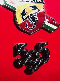 アバルト595 ドライカーボンエンブレム 3個セット