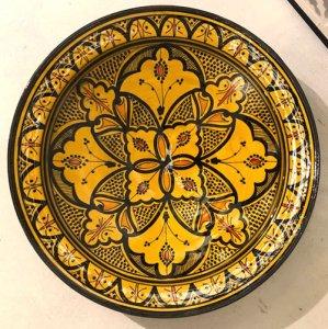 モロッコ 絵皿  イエロー S/M/L/XL