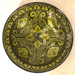 モロッコ 絵皿  グリーン S/M/L/XL