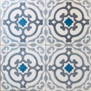 セメントタイル  ハムサ/ブルー