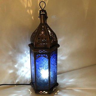 モロッコ ランプ  プチ/ブルー