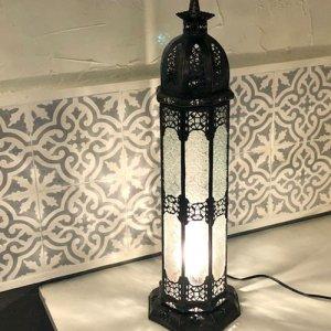 モロッコ ランプ  コラムL/ホワイト
