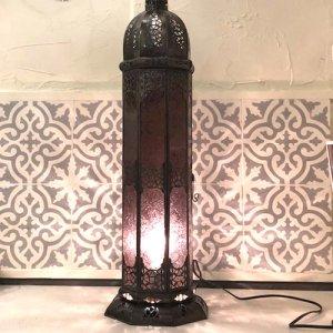 モロッコ ランプ  コラムL/ボルドー