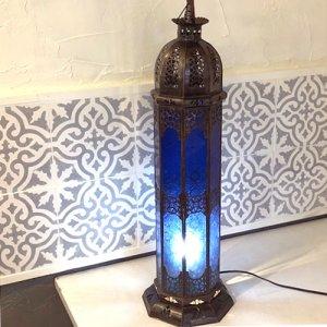 モロッコ ランプ  コラムL/ブルー
