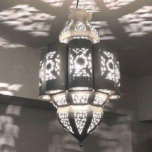 モロッコ アイアンランプ  ブーケ/ホワイト